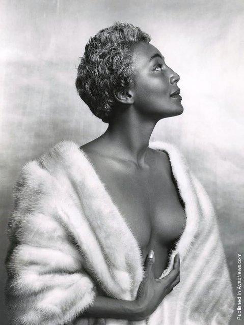 American singer Joyce Bryant at Halsman's studio. USA, New York City, 1954