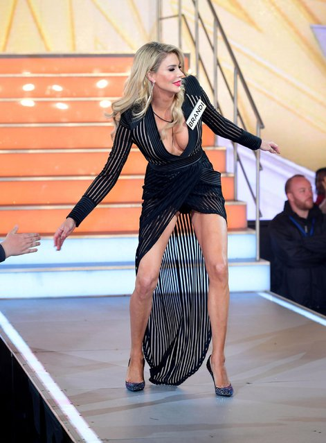 Brandi Glanville enters the Big Brother House for the Celebrity Big Brother launch at Elstree Studios on August 1, 2017 in Borehamwood, England. (Photo by PA Wire)