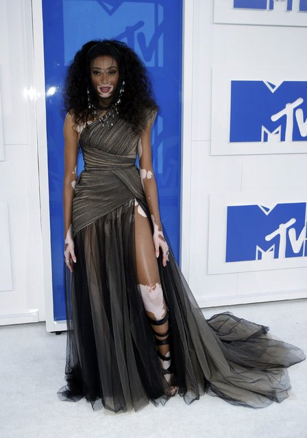 Model Winnie Harlow arrives at the 2016 MTV Video Music Awards in New York, U.S., August 28, 2016. (Photo by Eduardo Munoz/Reuters)