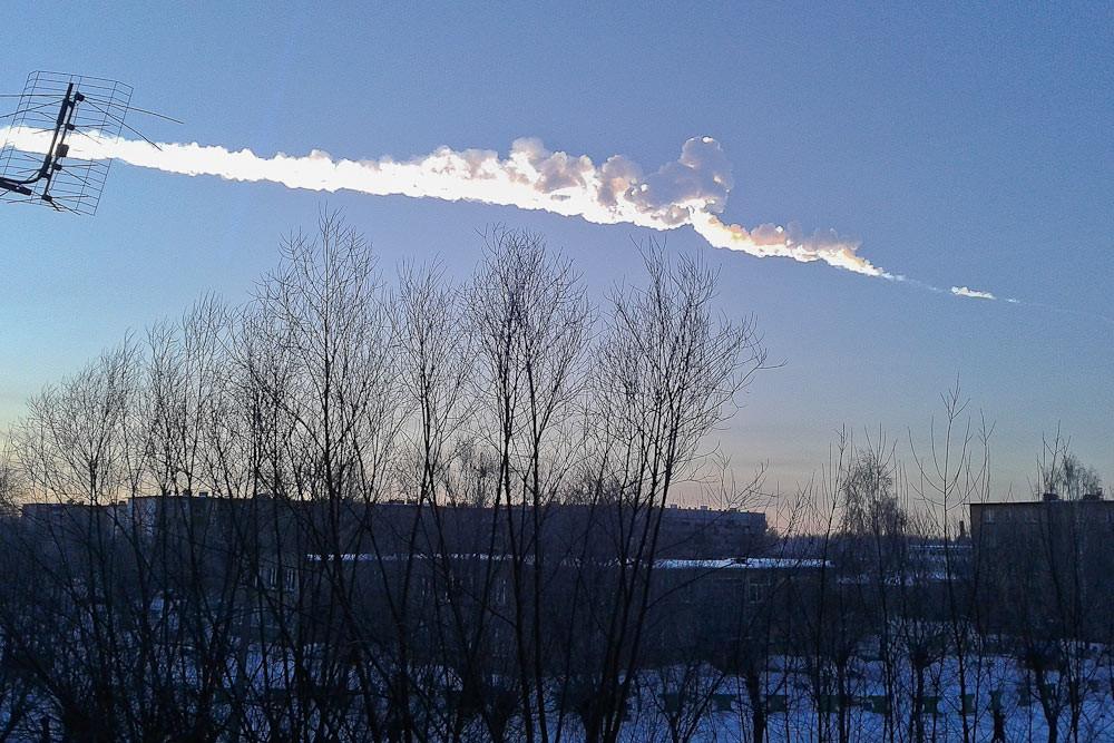 Meteor Falls in Russia's Chelyabinsk Region (VIDEO)