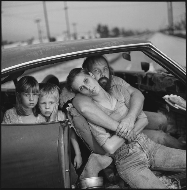 The Damm family in their car, Los Angeles, California, 1987. (Photo by Mary Ellen Mark)