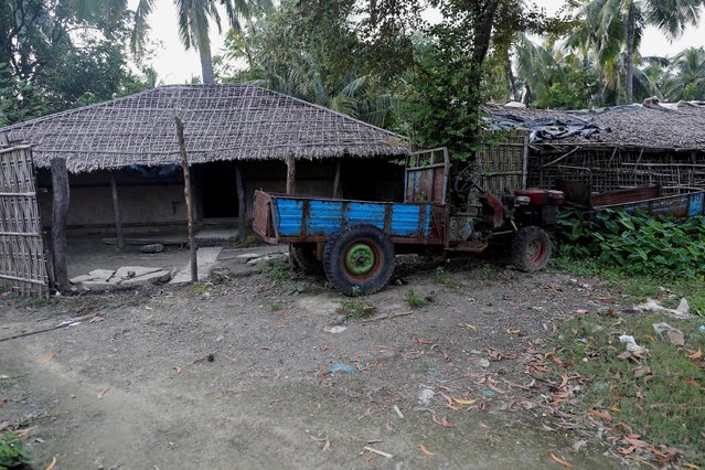 A Rohingya abandoned house  is seen at U Shey Kya village outside Maungdaw in Rakhine state, Myanmar, October 26, 2016. (Photo by Soe Zeya Tun/Reuters)