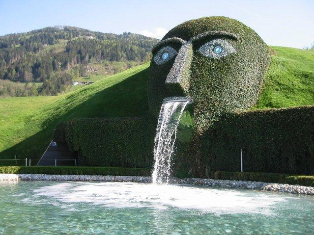 The Swarovski Crystal Head Fountain In Austria