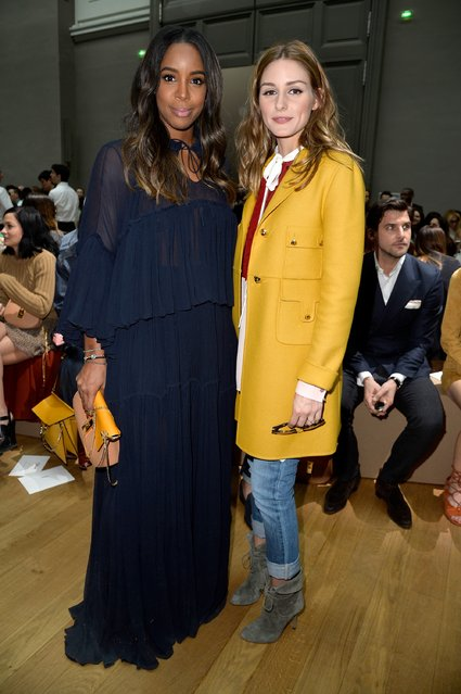 PARIS, FRANCE - MARCH 08:  (L-R) Kelly Rowland and Olivia Palermo attend the Chloe show as part of the Paris Fashion Week Womenswear Fall/Winter 2015/2016 on March 8, 2015 in Paris, France.  (Photo by Pascal Le Segretain/Getty Images)