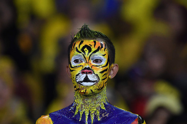 A Malaysia's fan waits for the start of the first leg of AFF Suzuki Cup 2018 final football match between Malaysia and Vietnam at the Bukit Jalil National Stadium in Kuala Lumpur on December 11, 2018. (Photo by Mohd Rasfan/AFP Photo)