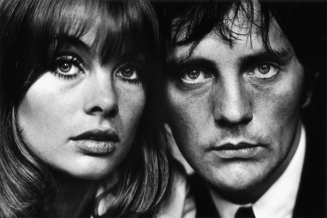 Jean Shrimpton and Terence Stamp, 1963. She was the world's first supermodel, he was a silver screen heart throb of the 1960's. Jean Shrimpton and Terence Stamp smolder in a famous portrait captured by Terry O'Neill in 1963. (Photo by Terry O'Neill)