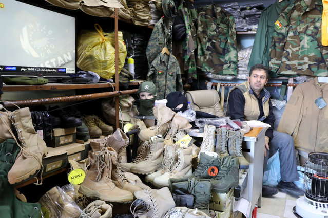 Military supplies for women is seen in a store in Erbil, Iraq January 24, 2017. (Photo by Marius Bosch/Reuters)