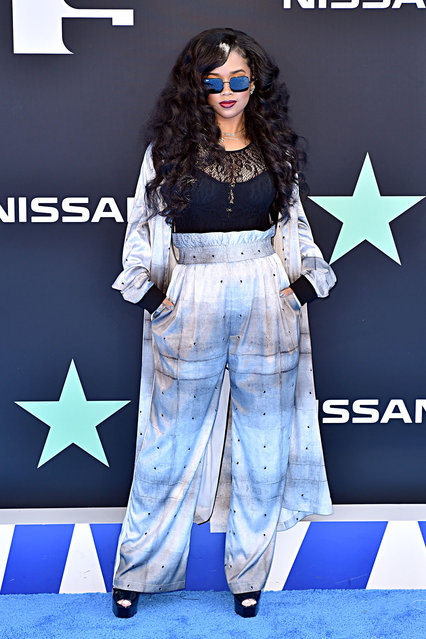 H.E.R. attends the 2019 BET Awards on June 23, 2019 in Los Angeles, California. (Photo by Aaron J. Thornton/Getty Images for BET)