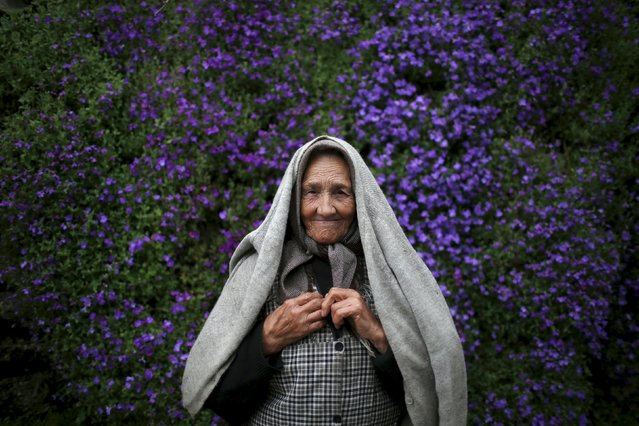 Zulmira Jesus poses for a portrait at a street in Povoa de Agracoes, near Chaves, Portugal April 19, 2016. (Photo by Rafael Marchante/Reuters)