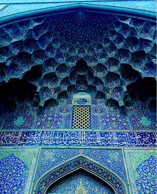 "The image of a blue arch of a mosque, ""was taken in my birthplace which I visited after ten years"", says Khodadadian. Esfahan, Iran. (Photo by Tandis Khodadadian/Smithsonian.com)"