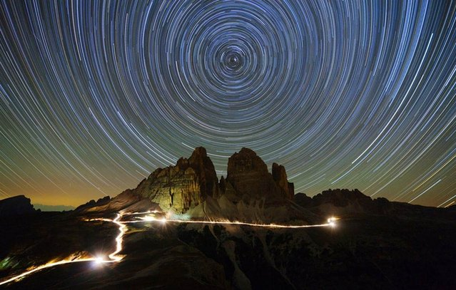 Startrails Over Dolomites by German astrophotographer Christoph Otawa won second-place honors in the Beauty of the Night Sky category of the 2012 Earth & Sky contest