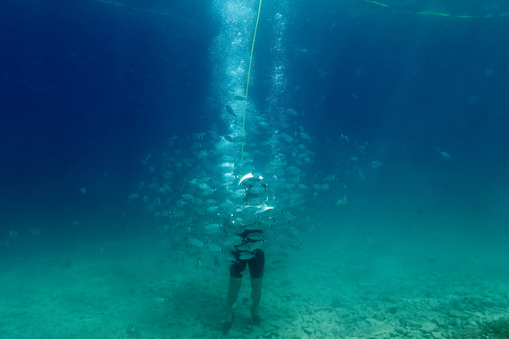 Playing Underwater in Croatia