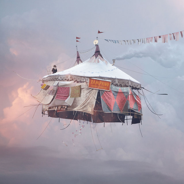 """Laurent Chehere's """"Flying Houses"""": """"Circus"""". (Photo by Laurent Chehere)"""