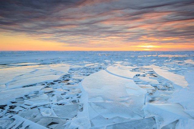 Lake ice, winter, Estonia. (Photo by Sven Zacek/Wildscreen Photography Festival 2014)