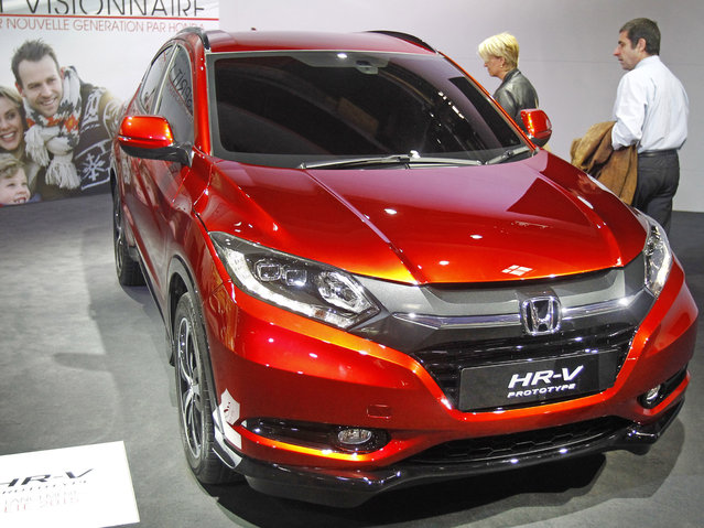 An Honda HR-V prototype is presented at the Paris Motor Show, in Paris, Thursday October 2, 2014. The Paris Motor Show will open its doors to the public on Saturday Oct. 4, until Oct. 19. (Photo by Remy de la Mauviniere/AP Photo)
