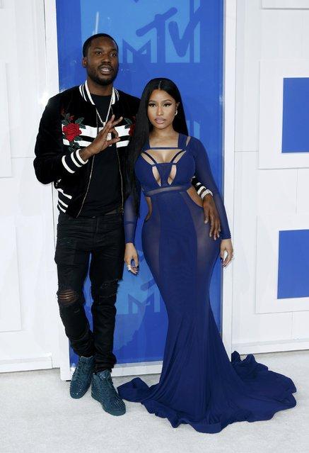 Rappers Nicki Minaj and Meek Mill arrive at the 2016 MTV Video Music Awards in New York, U.S., August 28, 2016. (Photo by Eduardo Munoz/Reuters)