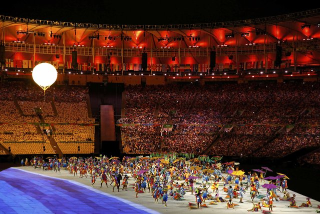 2016 Rio Paralympics, Opening ceremony, Maracana, Rio de Janeiro, Brazil on September 7, 2016. Performers take part in the opening ceremony. (Photo by Carlos Garcia Rawlins/Reuters)