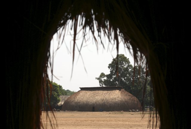 An indigenous house is seen in the village of the Kamayura tribe at Xingu national park in Mato Grosso, Brazil, October 2, 2015. (Photo by Paulo Whitaker/Reuters)