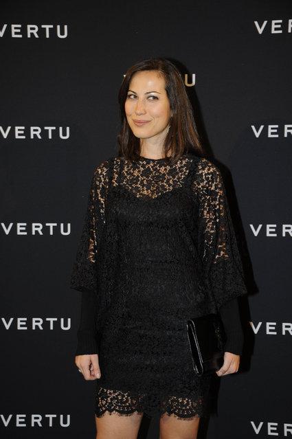 Sabina Began, Party for presentation new smartphone of Vertu in Milano, Italy, 2011. (Photo by Manuele Mangiarotti/LaPresse)