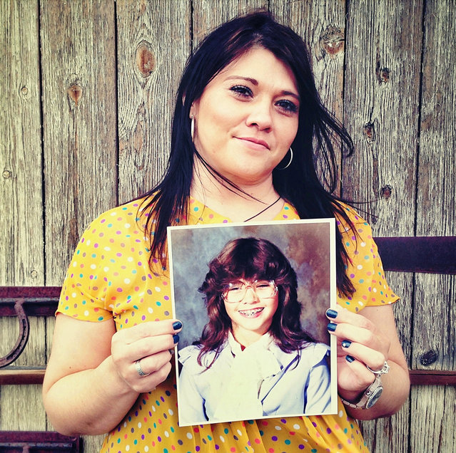 Laura. Then: 12 years old, 6th grade, Salt Lake City, UT. Now: 41 years old, Paralegal residing in Salt Lake City, UT. (Photo by Awkward Years Project)