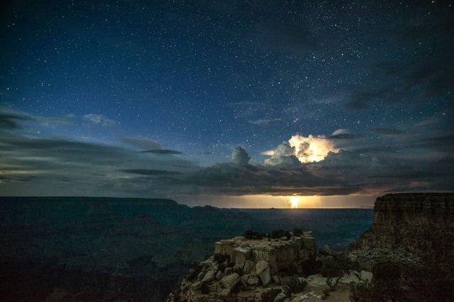 One of photographers Rolf Maeder's stunning night time images of the Grand canyon. (Photo by Rolf Maeder)