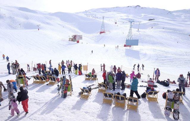 A general view shows the Dizin ski resort, northwest of Tehran January 15, 2016. (Photo by Raheb Homavandi/Reuters/TIMA)