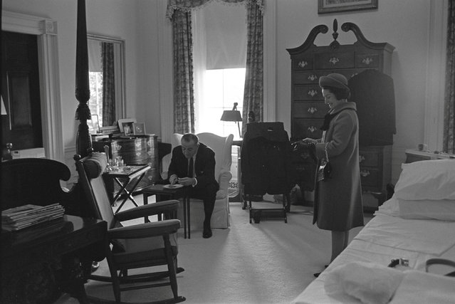 President-elect Lyndon B. Johnson and Lady Bird Johnson on the morning of his second inauguration in Washington, D.C., U.S. in January 1965. (Photo by Yoichi Okamoto/Reuters/White House Photo/LBJ Library)