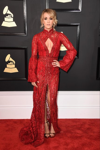 Singer-songwriter Carrie Underwood attends The 59th GRAMMY Awards at STAPLES Center on February 12, 2017 in Los Angeles, California. (Photo by Frazer Harrison/Getty Images)