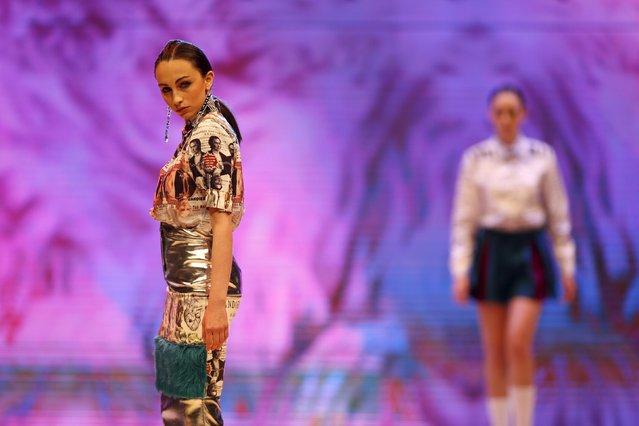 Models present creations by Maltese designer Ritienne Zammit at the Malta Fashion Awards 2015 at the Marsa Shipbuilding warehouse in Marsa, outside Valletta in Malta, May 16, 2015. (Photo by Darrin Zammit Lupi/Reuters)
