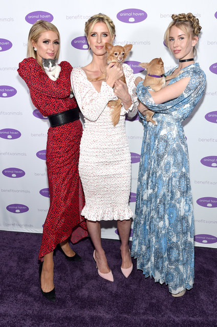 (L-R) Paris Hilton, Nicky Hilton Rothschild and Tessa Hilton attend the Animal Haven Gala 2019 at Tribeca 360 on May 22, 2019 in New York City. (Photo by Jamie McCarthy/Getty Images for Animal Haven Gala 2019)