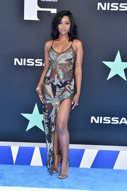 Justine Skye attends the 2019 BET Awards on June 23, 2019 in Los Angeles, California. (Photo by Aaron J. Thornton/Getty Images for BET)