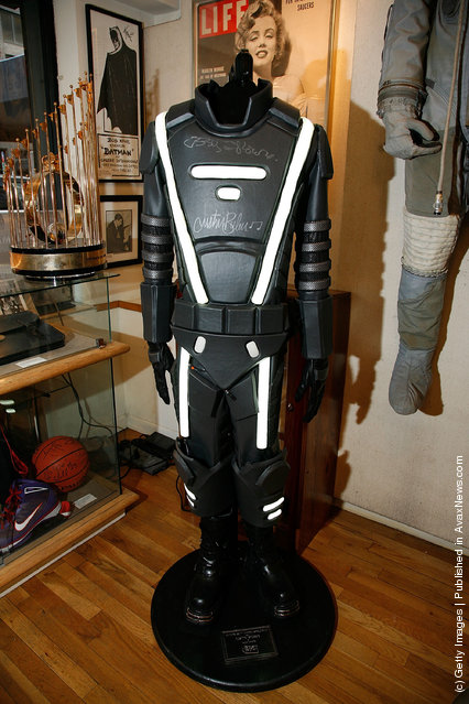 A costume worn by Justin Bieber in a Super Bowl XLV commercial