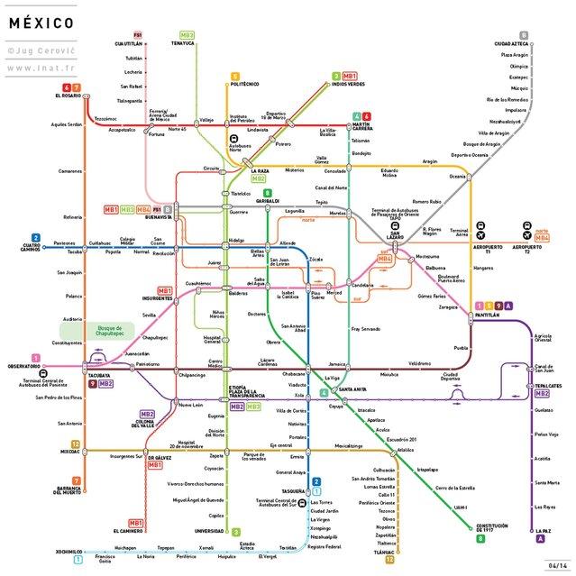Metro map: Mexico, Mexico. (Photo by Jug Cerovic)
