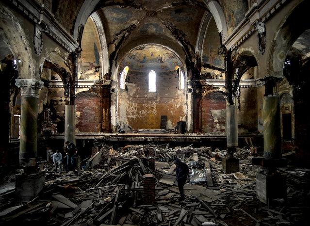 A photo showcasing architecture within St. Joseph Byzantine of Cleveland, Ohio. (Photo by Jonny Joo/Barcroft Media)