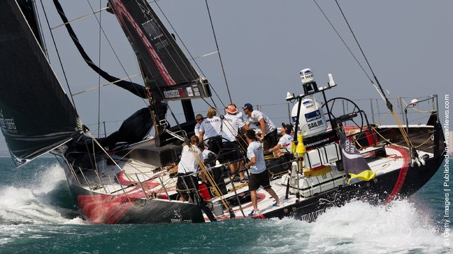 PUMA Ocean Racing powered by BERG, skippered by Ken Read from the USA sails during the start of leg 4 of the Volvo Ocean Race 2011-12