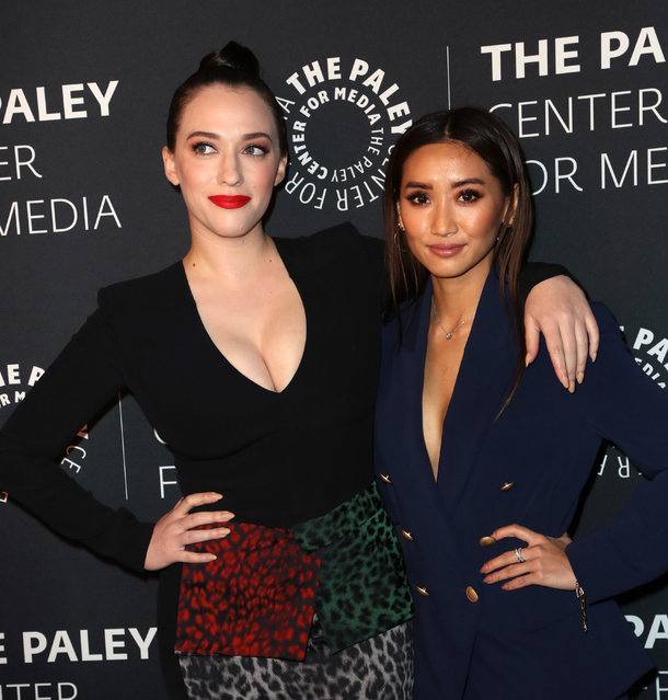 Kat Dennings (L) and Brenda Song attend The Paley Honors: A Special Tribute To Television's Comedy Legends at the Beverly Wilshire Four Seasons Hotel on November 21, 2019 in Beverly Hills, California. (Photo by David Livingston/Getty Images)