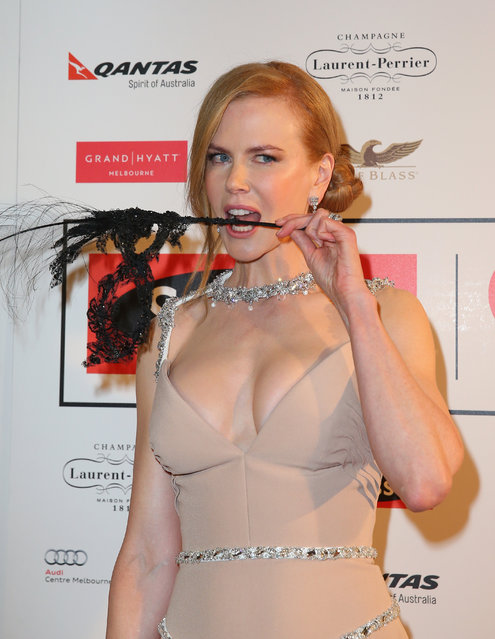 Actress Nicole Kidman attends the Celebrate Life Ball at Grand Hyatt Melbourne on June 13, 2014 in Melbourne, Australia. (Photo by Scott Barbour/Getty Images)