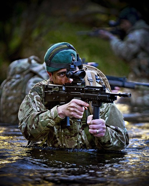 Royal Marines from 43 Cdo conducting routine training drills in and around Glen Fruin by CPOA(Phot) Thomas McDonald taken from the portfolio which earned The Commandant General Royal Marines Prize in the annual Peregrine Trophy awards. (Photo by Thomas McDonald/PA Wire)