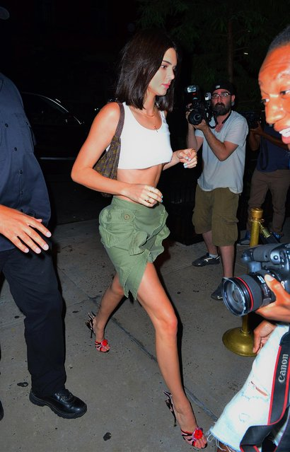 Model Kendall Jenner is seen in SoHo on August 2, 2017 in New York City. (Photo by Splash News and Pictures)