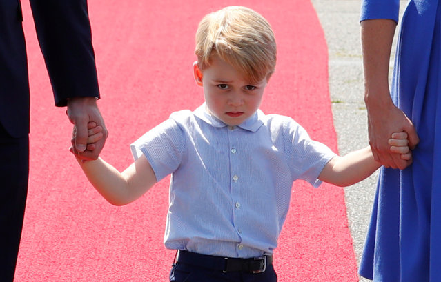 Prince George arrives at Tegel airport in Berlin, Germany, July 19, 2017. (Photo by Fabrizio Bensch/Reuters)