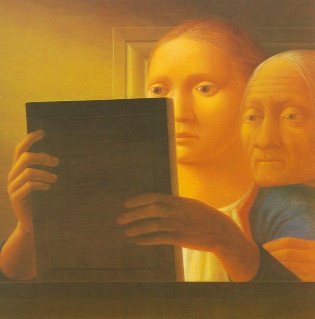 Mirror II. Artwork by George Tooker