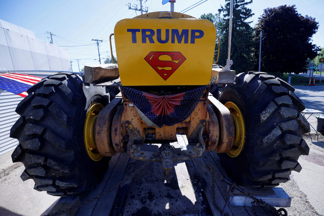 A tractor decorated to show support for U.S. President Donald Trump is displayed near the site of a visit by Vice President Mike Pence in Darien, Wisconsin, U.S., August 19, 2020. (Photo by Brian Snyder/Reuters)