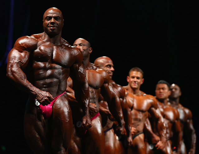 Toney Freeman of the USA poses during the IFBB Australia Pro Grand Prix at The Plenary on March 9, 2013 in Melbourne, Australia.  (Photo by Robert Cianflone)