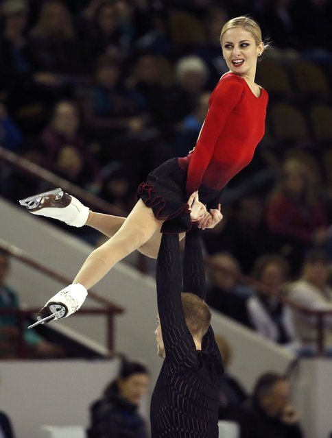 Tarah Kayne and Daniel O'Shea of the U.S. perform during the Pairs short program at the Skate America figure skating competition in Milwaukee, Wisconsin October 23, 2015. (Photo by Lucy Nicholson/Reuters)