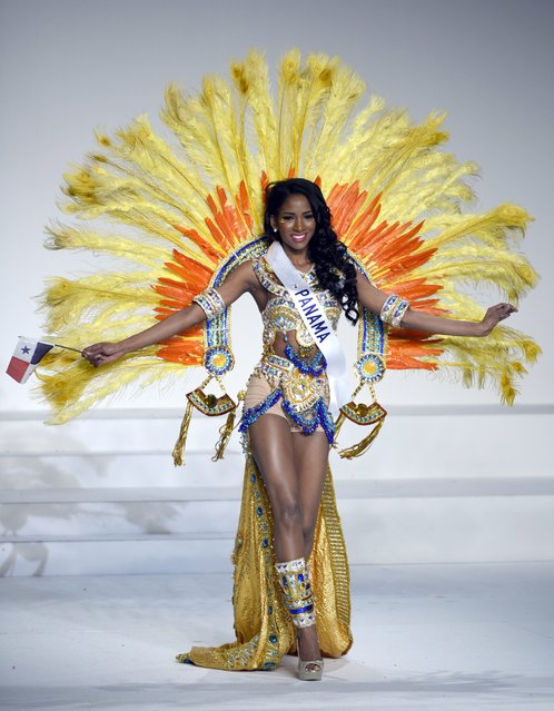 Miss Panama Jhasmeiry Herrera Evans displays her national costume during the Miss International Beauty Pageant 2015 in Tokyo, Japan, 05 November 2015. (Photo by Franck Robichon/EPA)