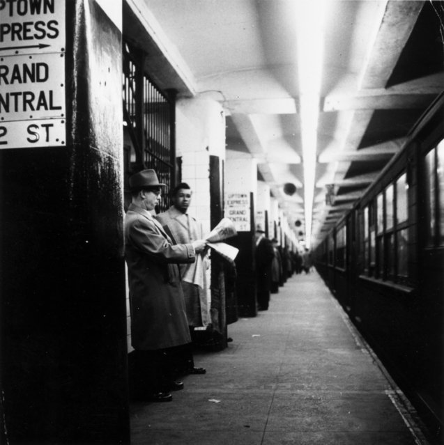 A subway station in New York in 1955. (Photo by Three Lions/Getty Images)