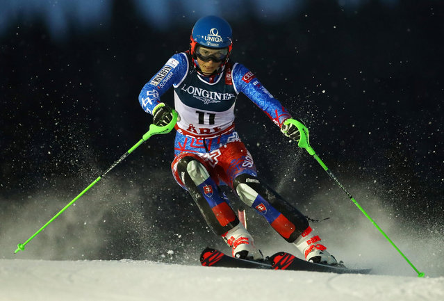 Switzerland's Slovakia's Petra Vlhova competes during the Women's Combined Slalom event of the 2019 FIS Alpine Ski World Championships at the National Arena in Are, Sweden on February 8, 2019. (Photo by Denis Balibouse/Reuters)