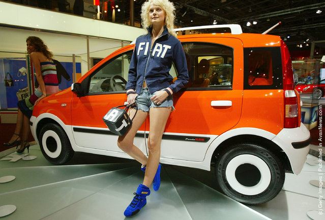 The new Panda Alessi Fiat is on display at the annual motor show