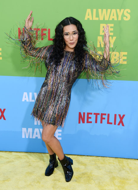 """Ali Wong arrives at the premiere of Netflix's """"Always Be My Maybe"""" at the Regency Village Theatre on May 22, 2019 in Westwood, California. (Photo by Amanda Edwards/WireImage)"""