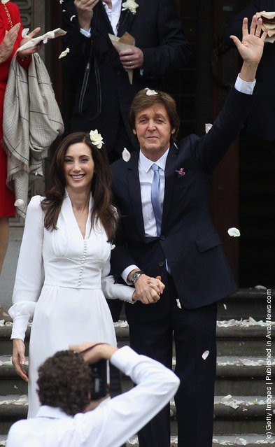 Paul McCartney and Nancy Shevell after their civil ceremony marriage